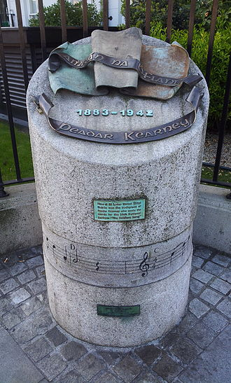 Dorset Street, Dublin - Monument to Peadar Kearney, Lower Dorset St.