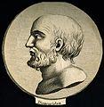 Pedanios Dioscorides. Line engraving. Wellcome V0001600.jpg