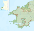 Pembrokeshire Coast National Park UK relief location map.png