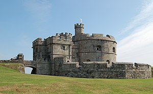 Fortress Study Group - Pendennis Castle, Cornwall, early artillery fortification