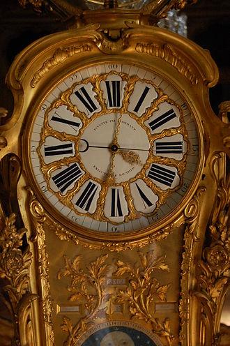 Passemant astronomical clock - Clockface