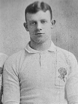 Percy Stout - Stout in England jersey