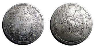 Hammer and sickle - The chilean peso used the hammer and sickle symbol between 1895 and 1940
