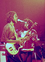Peter Tosh with Robbie Shakespeare, 1978