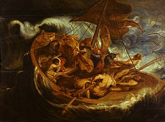 Calming the storm - Image: Peter Paul Rubens Christ on the Sea of Galilee