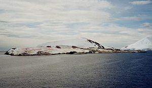 Petermann Island - Petermann Island from a distance