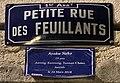 Petite rue des Feuillants - plaque de rue et Journée du souvenir trans (Ayaka Neko).jpg