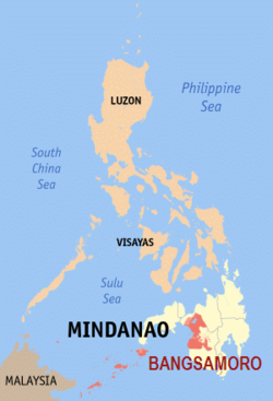 Map showing the possible extent of Bangsamoro according to the framework agreement