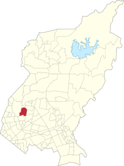 Map of Quezon City showing San Antonio
