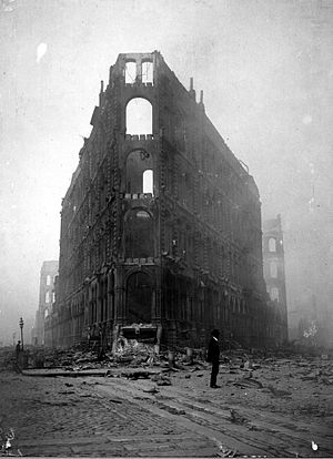 Phelan Building - Image: Phelan Building after the earthquake on April 20, 1906