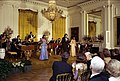 Photograph of Tony Orlando and Singers Telma Hopkins and Joyce Vincent Wilson of Dawn Performing in the East Room during the Entertainment Portion of a State Dinner Honoring Prime Minister Giulio Andreotti of Italy - NARA - 7840023.jpg