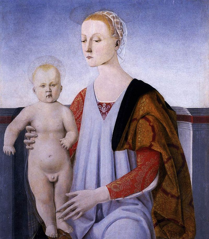 Пьеро делла Франческа - Богородица с младенцем - WGA17635.jpg
