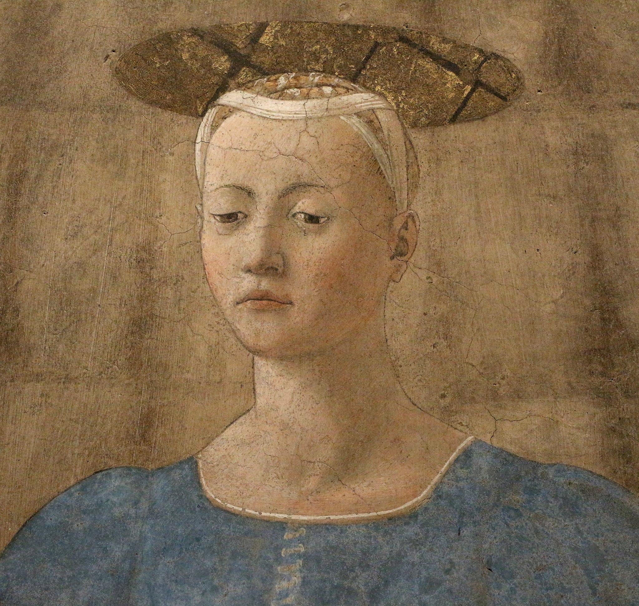Piero della francesca, Madonna del Parto, 1455 ca. 10