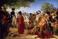 Pierre-Narcisse Guérin - Bonaparte fait grace aux revolutes du Caire 23. Octobre 1798.jpg