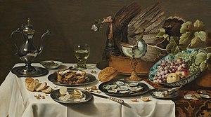 Pieter Claesz - Image: Pieter Claesz. Stilleven met kalkoenpastei Google Art Project