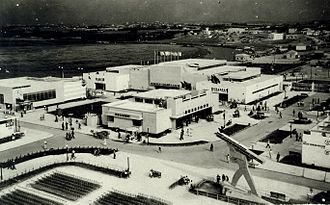Levant Fair - Aerial view of the Levant Fair in the 1930s