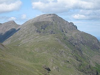 Pillar (Lake District) - Pillar from the east. Pillar Rock is clearly visible on the skyline on the right.