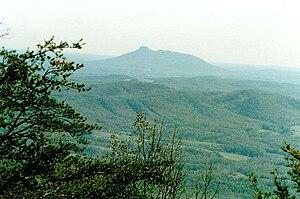 Pilot Mountain (North Carolina) - Image: Pilot Mtfrom VA8910