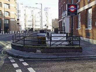 Pimlico tube station - Image: Pimlico station eastern entrance