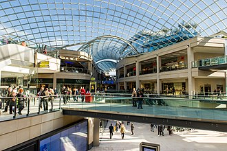 Trinity Leeds - The interior of the centre.