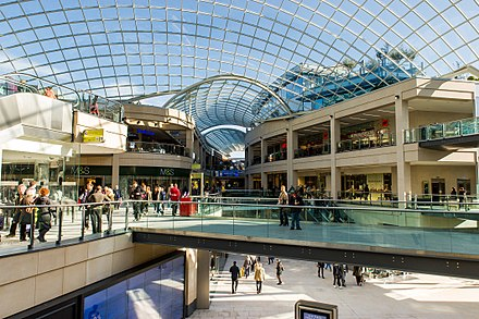 Trinity Leeds is Leeds' largest shopping centre Pinnacle, Leeds 16.jpg