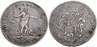 Oncia - A silver Maltese oncia from 1741–73