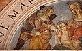 Pinturicchio e-o bartolomeo caporali, madonna col bambino e angeli, lunetta di santa maria della pietà, 1505 ca. 03.JPG