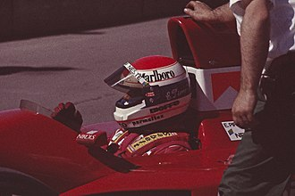 Emanuele Pirro - Pirro at the 1991 United States Grand Prix.