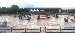 A show jumping course.