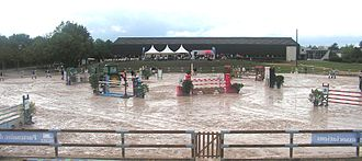 Show jumping - A show jumping course