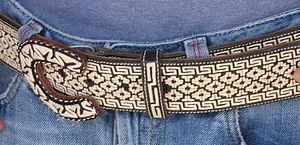Piteado - Detail of a hand made piteado belt