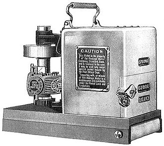 Postage meter - The Pitney Bowes Model M postage meter 1920.