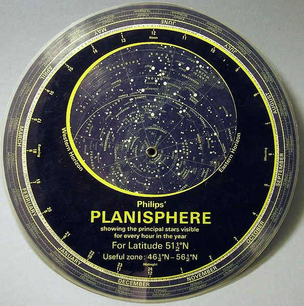 Image of a planisphere (star wheel)