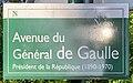 Plaque Avenue Général Gaulle - Noisy-le-Grand (FR93) - 2021-04-24 - 1.jpg