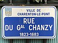 Plaque Rue Général Chanzy - Charenton-le-Pont (FR94) - 2020-10-16 - 2.jpg