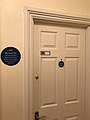 Plaque in front of Theresa May's former room..jpg
