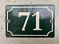 Plaque numéro 71 place St Cyr St Cyr Menthon 1.jpg