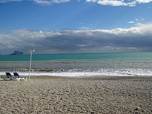 L'Alfàs del Pi - Racó de l'Albir beach in L'Alfàs del Pi