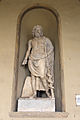 Poggio imperiale, facciata, loggia, esculapio, forse opera di età severiana (mano e qualche frammento di restauro).JPG