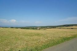 Pohled na obec ze západu, Slavětín, okres Olomouc.jpg