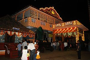 Polali Rajarajeshwari Temple - Polali Rajarajeshwari Temple during festival