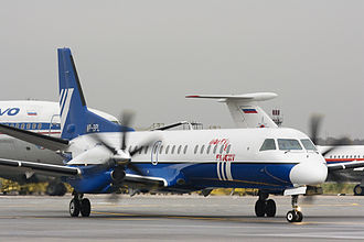 Polet Airlines - Polet Airlines Saab 2000 at Domodedovo International Airport