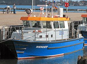 Wasserschutzpolizei - A WSP patrol boat of the Mecklenburg Vorpommern State Police