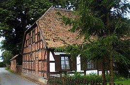 Half-timbered house in Pollitz