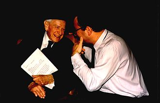 Karl Popper - Sir Karl Popper, Prof. Cyril Höschl. K. Popper received the Honorary Doctor's degree of Charles University in Prague (May 1994)