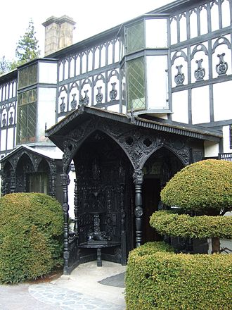 Ladies of Llangollen - Carved oak porch of Plas Newydd
