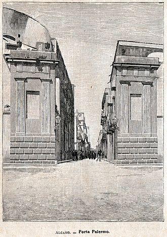 Alcamo - Porta Palermo in a print of 1900