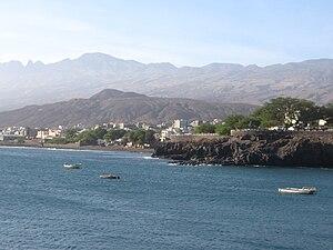 Porto Novo, Cape Verde - Porto Novo seen from the sea