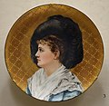 Portrait of Esther McLaughlin (the artist's niece), by Mary Louise McLaughlin, 1882, Haviland and Company porcelain blank - Cincinnati Art Museum - DSC03079.JPG