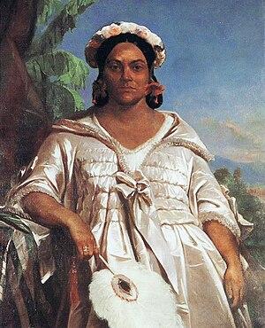 Pōmare IV - Queen Pōmare IV, portrait by Charles Giraud, Musée de Tahiti et des Îles.
